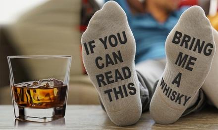 1, 2 o 4 pares de calcetines para hombre 'Bring me a Whisky'