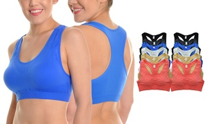 Angelina Seamless Racerback Sports Bras (12-Pack)