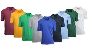 5-Pk. Men's Short-Sleeve Pique Polo Shirts