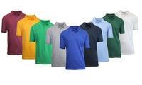 5-Pack Men's Short-Sleeve Pique Polo Shirts (Assorted Colors)