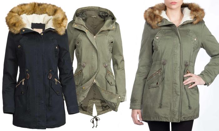Groupon Goods Global GmbH: 3-in-1 Winterjacke mit abnehmbarem Teddy-Futter aus 100% Baumwolle