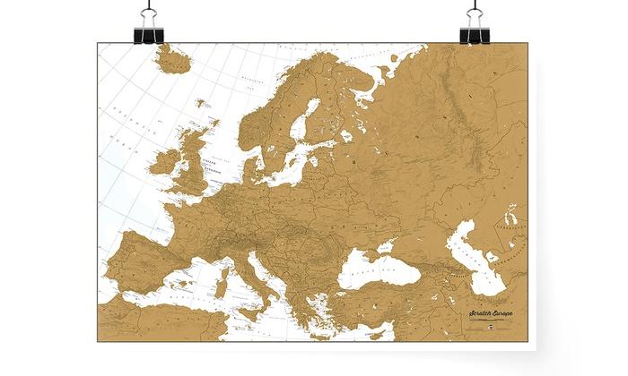 Eu Landkarte Zum Rubbeln Groupon