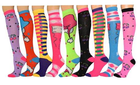 Frenchic Women's Knee-High Socks (9-Pairs)!