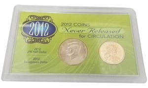 Uncirculated 2012 JFK and Sacagawea Half Dollar Coins