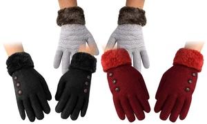 Women's Double-Layer Plush Fleece Gloves