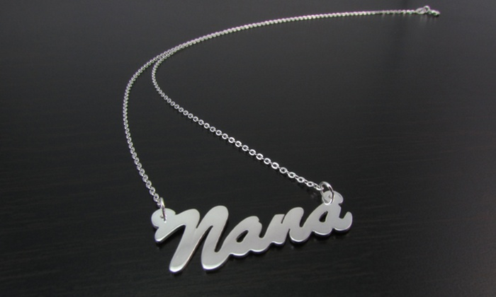 NameJewelrySpot.com: Name Necklace in Sterling Silver from Name Jewelry Spot