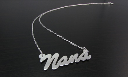 Name Necklace in Sterling Silver from Name Jewelry Spot