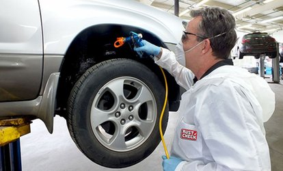 $79 for a Rust Check Rust-Proofing Package, Exterior Car Wash and Aquapel ($159.90 Value), 10 Locations Across Quebec