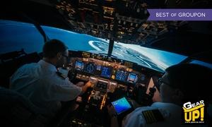 GearUP!: 15-minutowy lot na symulatorze samolotu pasażerskiego za 75 zł i więcej opcji w GearUP!