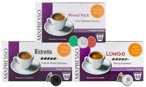 Mixpresso Nespresso-Compatible Single-Serve Coffee Capsules (50-Count)