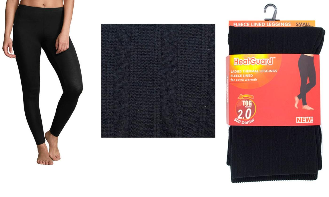 One or Two Pairs of Women's Thermal Fleece-Lined Leggings