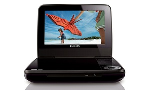 "Philips 7"" Portable DVD Player (Refurbished)"