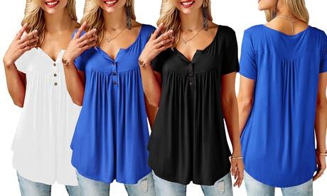 1 o 2 camisetas de manga corta para mujer