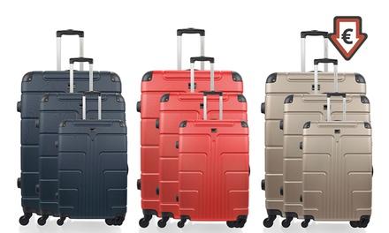 Set de 3 valises ABS Ottawa avec pèse bagage gratuit, coloris au choix, à 99,99€