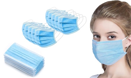 10, 50 or 100 Disposable Face Masks
