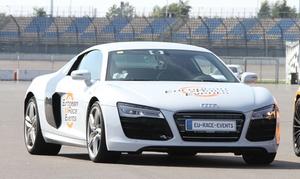 European Race Events: 30 Min, 60 Min. oder 90 Min. Audi R8-V10 selber fahren inkl. Einweisung bei European Race Events (bis zu 58% sparen*)