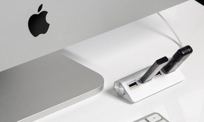 Groupon Goods Global GmbH: Hub USB Premium con 4 puertos USB, acabado en aluminio y cable blindado desde 6,99 € (hasta 80% de descuento)