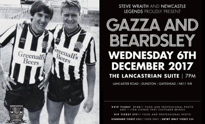 image for An Evening with Paul Gascoigne and Peter Beardsley on 6 December 2017 (Up to 43% Off)