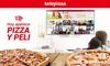Pizza y película con Telepizza