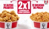 Menú Hamburguesa o Chick & Share de 24 unidades a compartir en 80 KFC