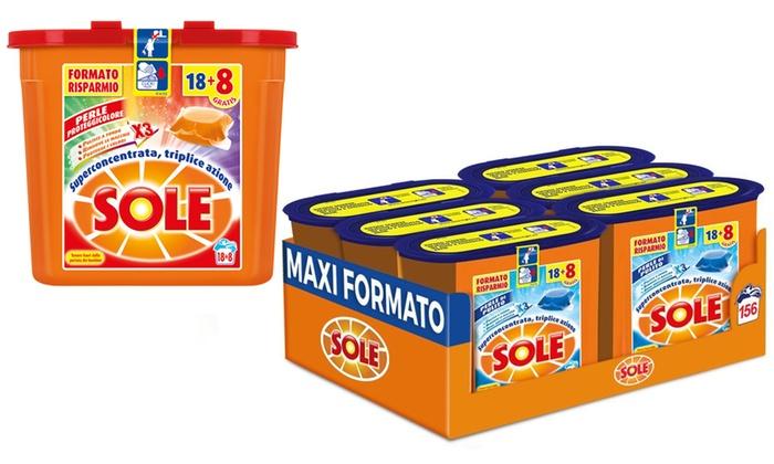 30 Capsule Sole Proteggi Colore Gel Caps Detersivo per Lavatrice Monodose