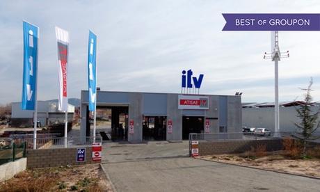 ITV con tasas incluidas para vehículos gasolina y motocicletas o vehículos diésel desde 29,95 € en Atisae ITV Villalba Oferta en Groupon