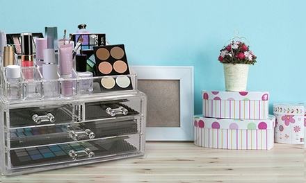 Acrylic Cosmetic Organiser or Jewelry Display Box from AED 49 (Up to 74% Off)
