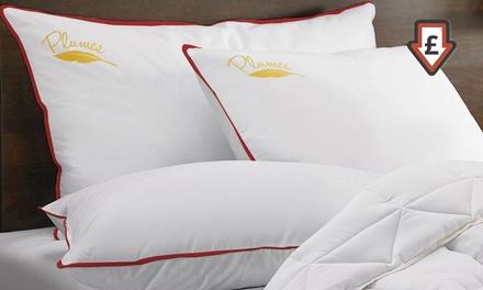 1 ou 2 oreillers à plumes Sampur, taille au choix