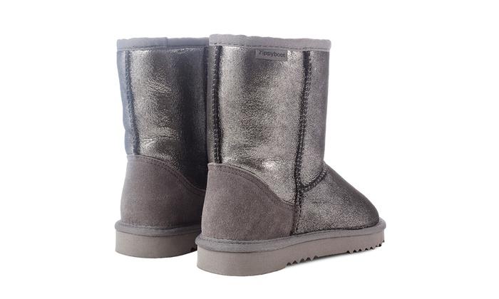 boots cuir et peau de mouton groupon shopping. Black Bedroom Furniture Sets. Home Design Ideas