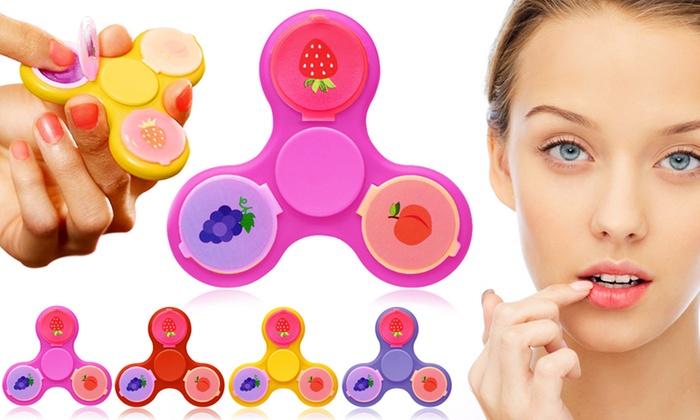 Finger spinner con balsamo labbra