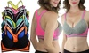 Two-Tone Contrast Racerback Cotton Sports Bras (6-Pack): Two-Tone Contrast Racerback Cotton Sports Bras (6-Pack)