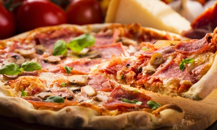 $12 for $20 Worth of Hand-Tossed Pizzas, Sandwiches, and Salads at The Red Star Pizza Company