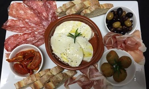 Amadio Wines: $29 for an Italian Ploughman's Platter with Wine for Two People at Amadio Wines, Felixstow (Up to $67 Value)