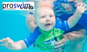 ProSwim : Six ($19) or 12 ($35) Swimming Lessons at ProSwim (Up to $300 Value)