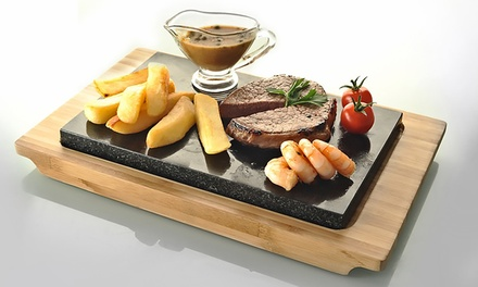 Typhoon Hot Stone and Bamboo Serving Set