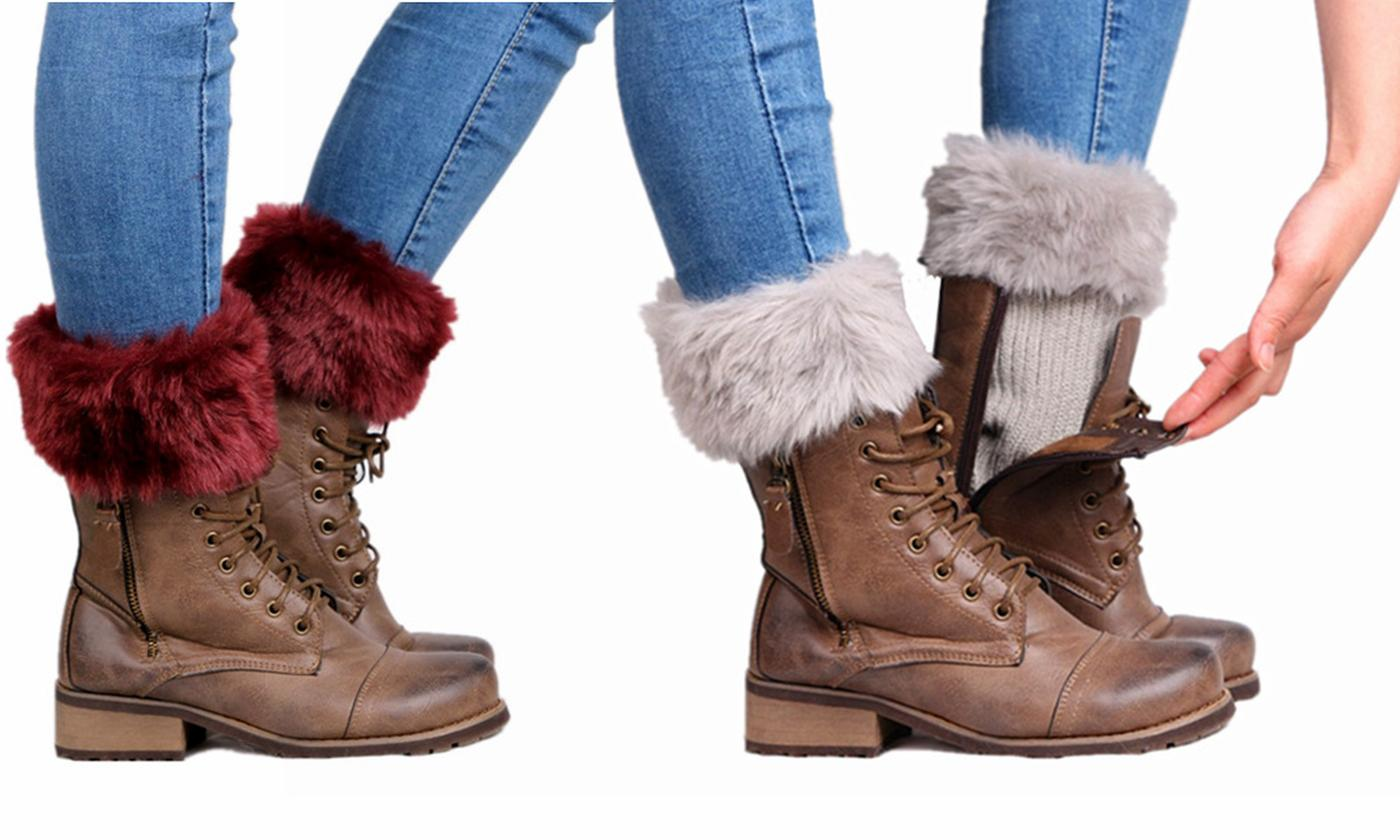 Faux Fur Boot Topper
