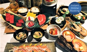 Kobe Wagyu BBQ: AYCE Japanese Barbecue Dinner Buffet with Asahi Beer for 1 ($69) or 2 People ($135) at Kobe Wagyu BBQ (Up to $175 Value)