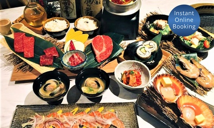 All-You-Can-Eat Japanese BBQ and Drink Buffet for 1 ($70) or 2 People ($140) at Kobe Wagyu BBQ (Up to $188 Value)