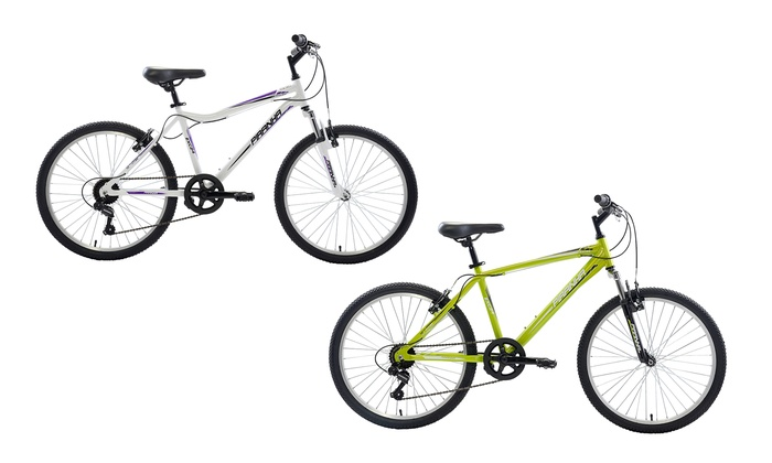 "Piranha 7 Speed Hardtail 24"" Boy or Girl Mountain Bike"