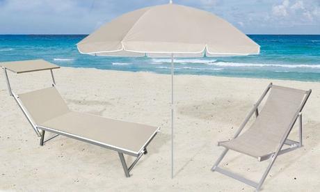 1 prodotto a scelta tra ombrellone da mare, sedia sdraio Soverato e lettino prendisole Luxurious