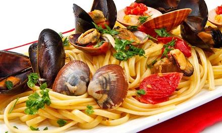 Menu di pesce di 5 portate più calice di vino al ristorante Vista Mare My Little Italy in Centro (sconto fino a 63%)