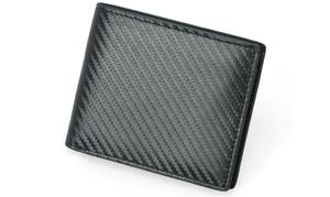 1 ou 2 portefeuilles en cuir et carbone avec sécurité RFID