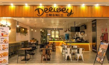 Menú con entrante, principal, postre y bebida en Deewey S.Sebastián (hasta 60% de descuento)