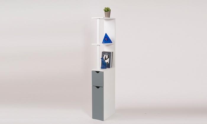 Meuble de rangement toilettes compact groupon for Meuble de rangement toilettes ou salle de bains