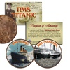 RMS Titanic and Carpathia Colorized Coin Set