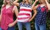 Self Esteem Women's 4th of July American Flag Tee. Multiple Styles.
