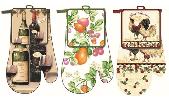 Ordinaire Emma Brooke Kitchen Pot Holder And Oven Mitt Set (12 Piece) ...