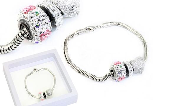 Bracelet charms papillon orné de cristaux Swarovski®