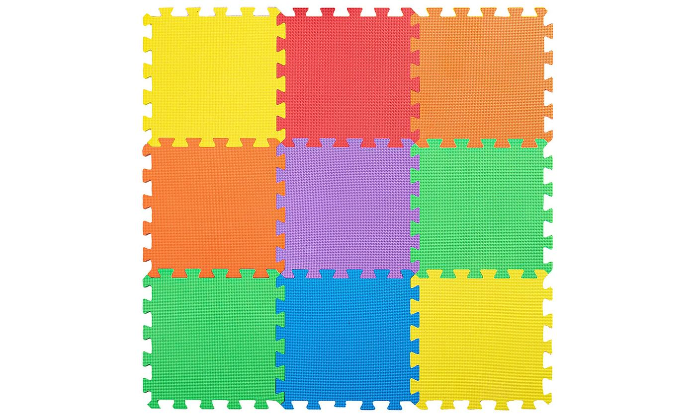 One or Two Nine-Piece Coloured Foam Play Mats