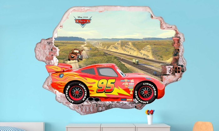 Wandsticker Disney Cars 3d Effekt Groupon Goods